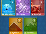 Microsoft Solitaire Collection main menu