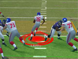 Madden NFL 21 Mobile Football running through the defense
