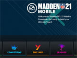 Madden NFL 21 Mobile Football main menu