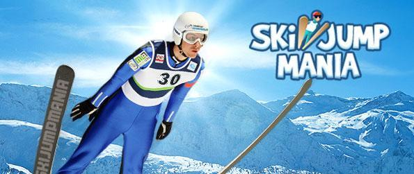 Ski Jump Mania - Take the plunge in this fantastic Ski Jump Game! Win the world championships!