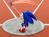 Sonic at the Olympic Games – Tokyo 2020 charging up a throw