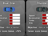 Vehicle selection in th egame