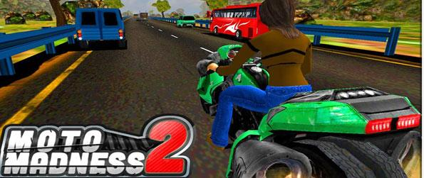 Moto Madness 2 - Traverse through the massive town and go as far as you can in this high octane bike racing game.