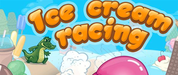Ice Cream Racing - Do not let the young dinosaur catch you.