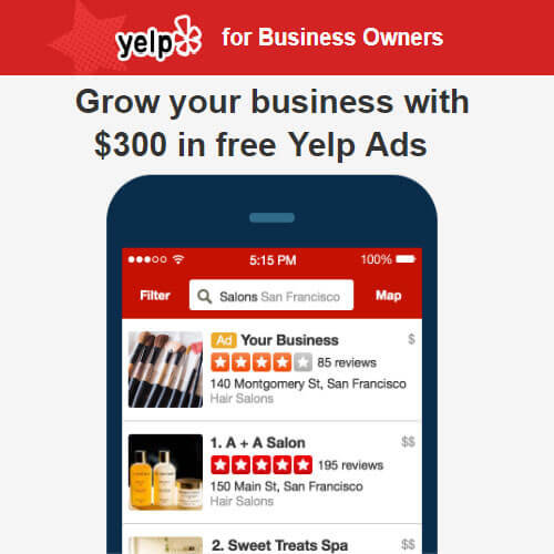 Get $300 Free Advertising Money to Grow Your Business with Yelp