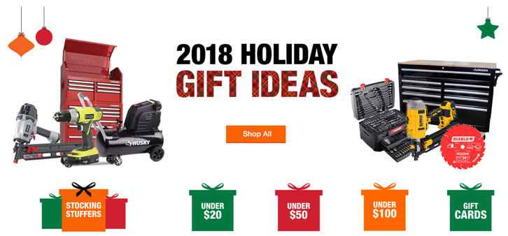 Home Depot's 2018 Holiday Gift Guide