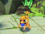 Playing fetch in Fantasy Pets