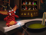 Brewing a potion in Pet Lab