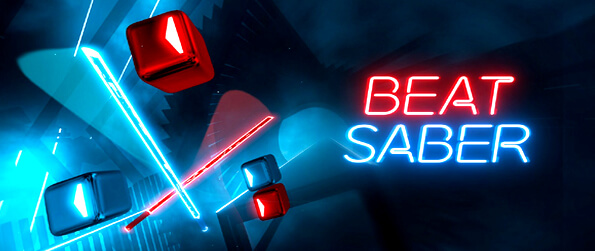 Beat Saber VR   - Beat Saber ... a VR game where Jedi Knight meets Tron and Guitar Hero!