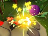 Use bombs to take out your enemies in Lucky's Tale