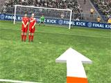 Trying to score a goal in Final Kick VR