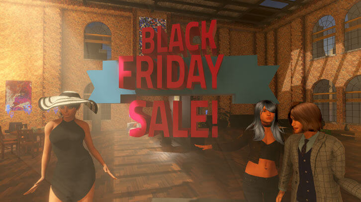Amazing Black Friday Sale in Sinespace