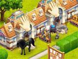 French-themed stables in Horse Haven: World Adventures