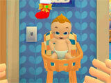 Mother Simulator: Happy Virtual Family Life taking care of the baby