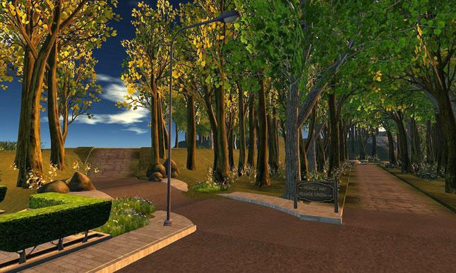 Sanssouci Park in Second Life