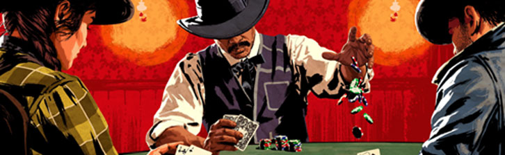 Texas Hold'em going in full blast in Red Dead Redemption II