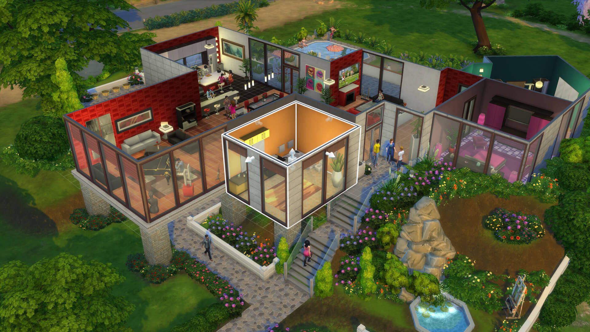 House design and life simulations makes The Sims extremely popular