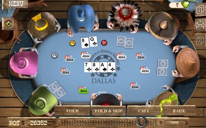 Governor of Poker gameplay