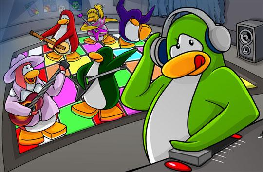Party on in Club Penguin