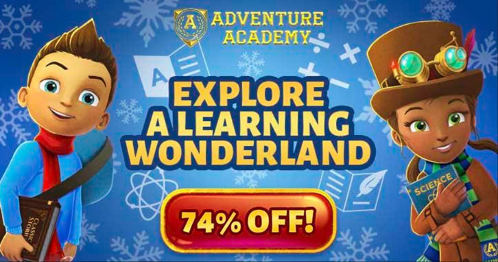 Get A 2-Month Adventure Academy Subscription for Just $5 During the Winter Sale!