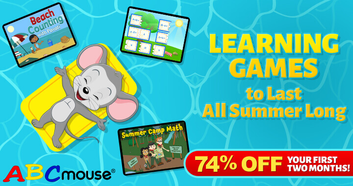 Learn All Summer Long with ABCmouse, Now with a 74% Discount for the First Two Months!