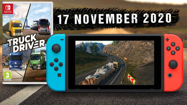 Truck Driver hits the road on Nintendo Switch on November 17, 2020