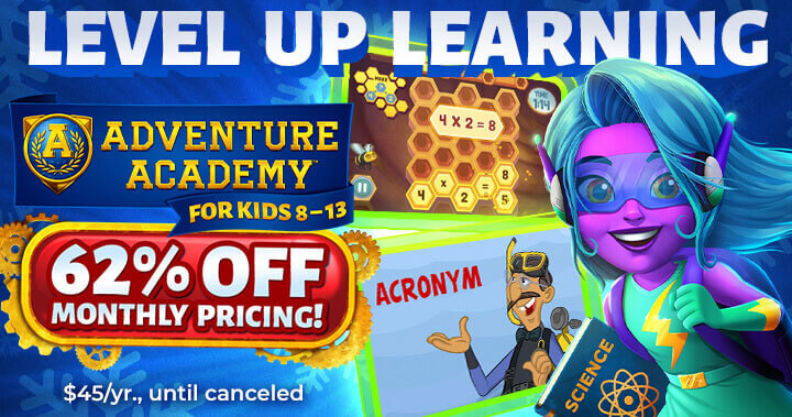 Adventure Academy's Incredible New Year Sale!