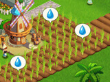 Miracle City 2: Watering crops at a friend's city