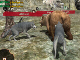 Wolf pack vs bear in The Wolf