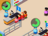 Cashiers hard at work in Idle Supermarket Tycoon