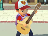 Jamming out with your newly-built guitar in Adventure Academy