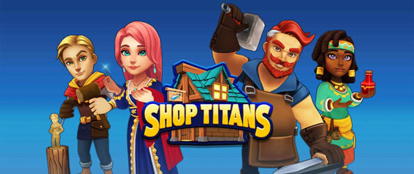 Shop Titans - Craft a variety of weapons, armor, and accessories and sell them to brave adventurers in Shop Titans!