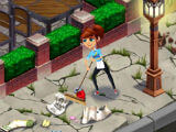Cleaning up the Sidewalk in Diner DASH Adventures