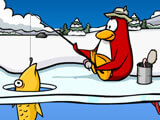 Playing Ice Fishing, the mini-game