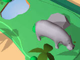 Checking out the HIppopotamus in Idle Animals Kingdom