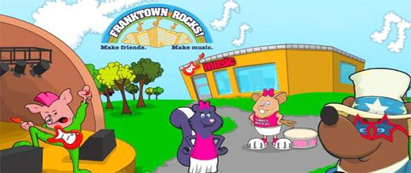 Franktown Rocks - Enjoy a musical journey with lots of great games in this children's virtual world.