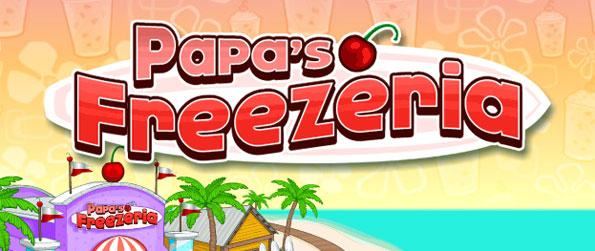 Papa's Freezeria - Serve your customers with the best made sundaes on a tropical paradise in this fun, time management game, Papa's Freezeria!