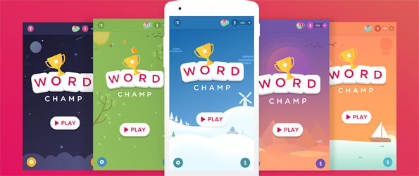Word Champ - Find all the words in this delightful word finder game that promises hours upon hours of fun to anyone who tries it out.
