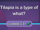 Answering a question in Trivia Star