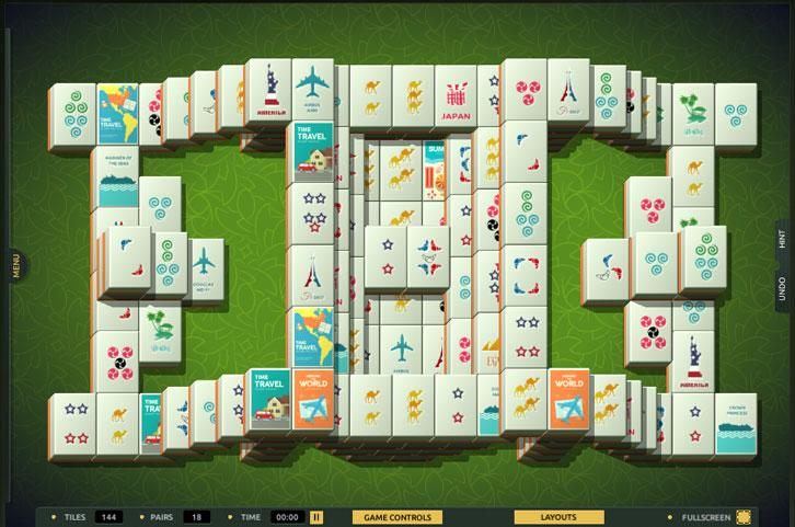 Fortress layout in TheMahjong.com