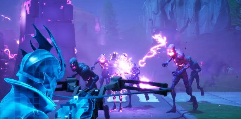 Fortnitemares fighting the Cube Monsters