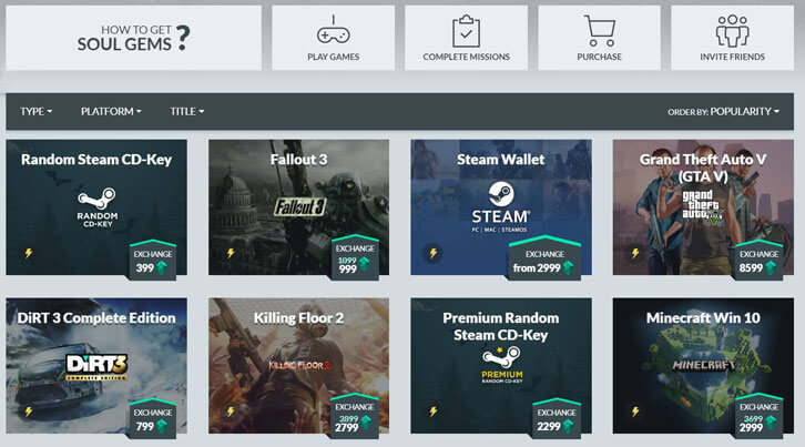 Get free games on Gamehag