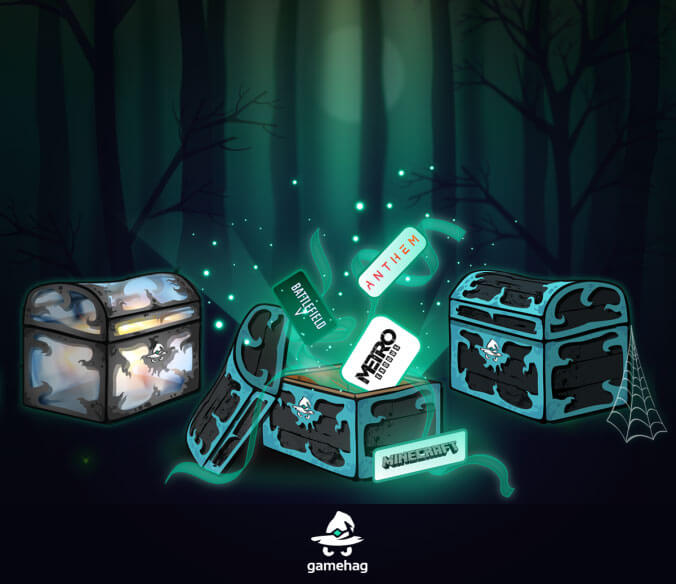 Get triple-A games from chests on Gamehag
