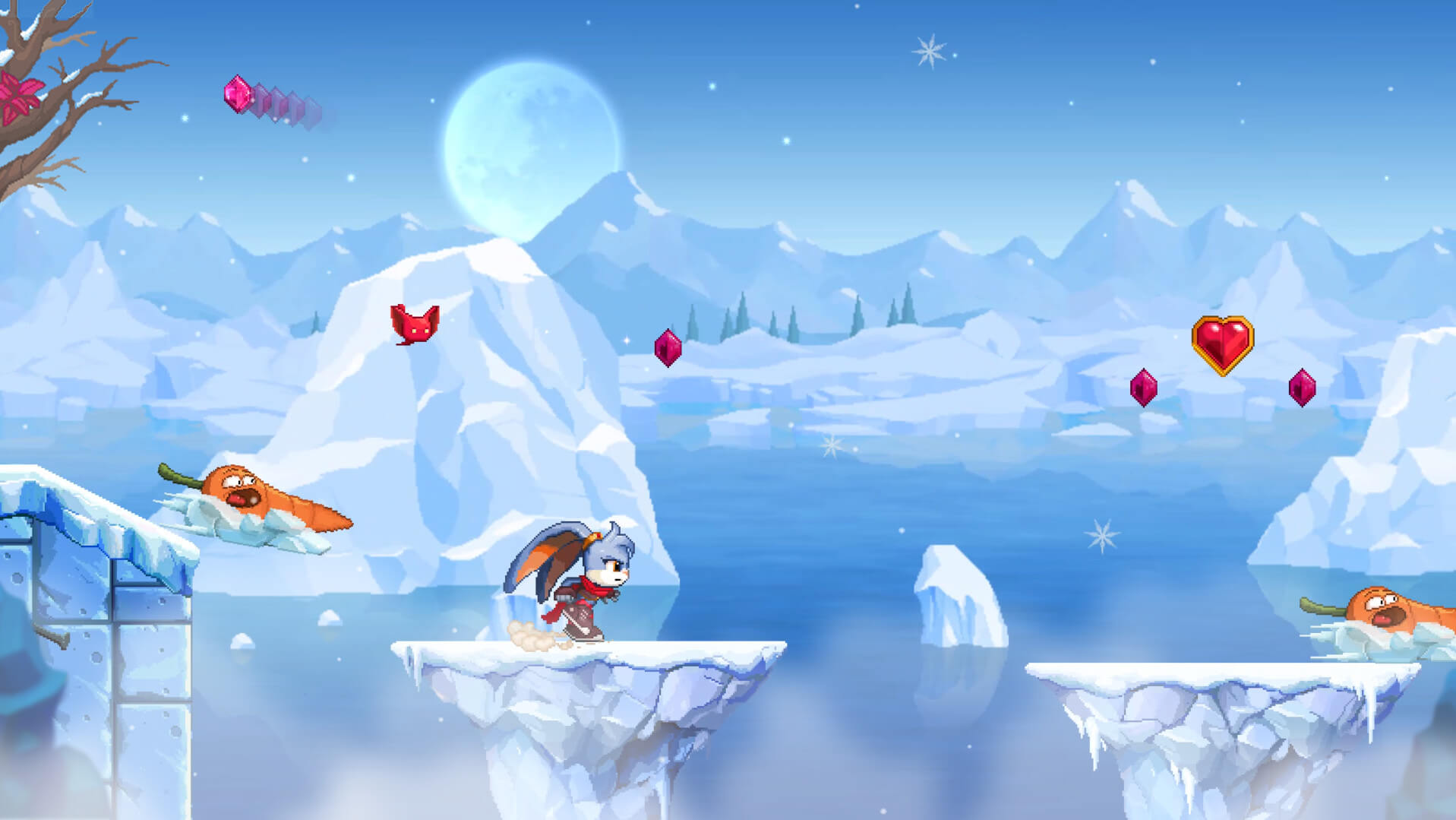 Ice level in Kaze and the Wild Masks