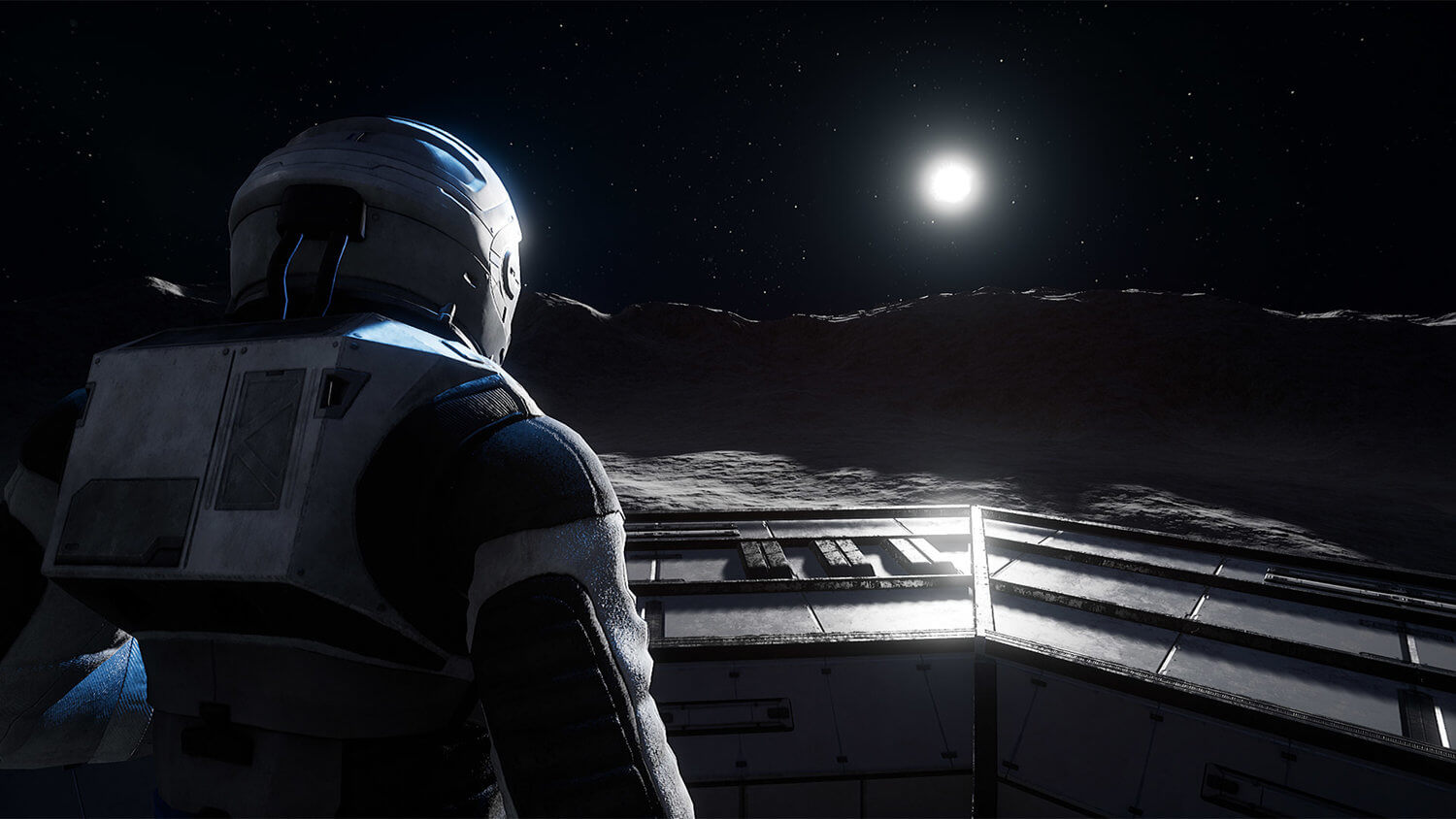 The Lunar surface in Deliver Us The Moon