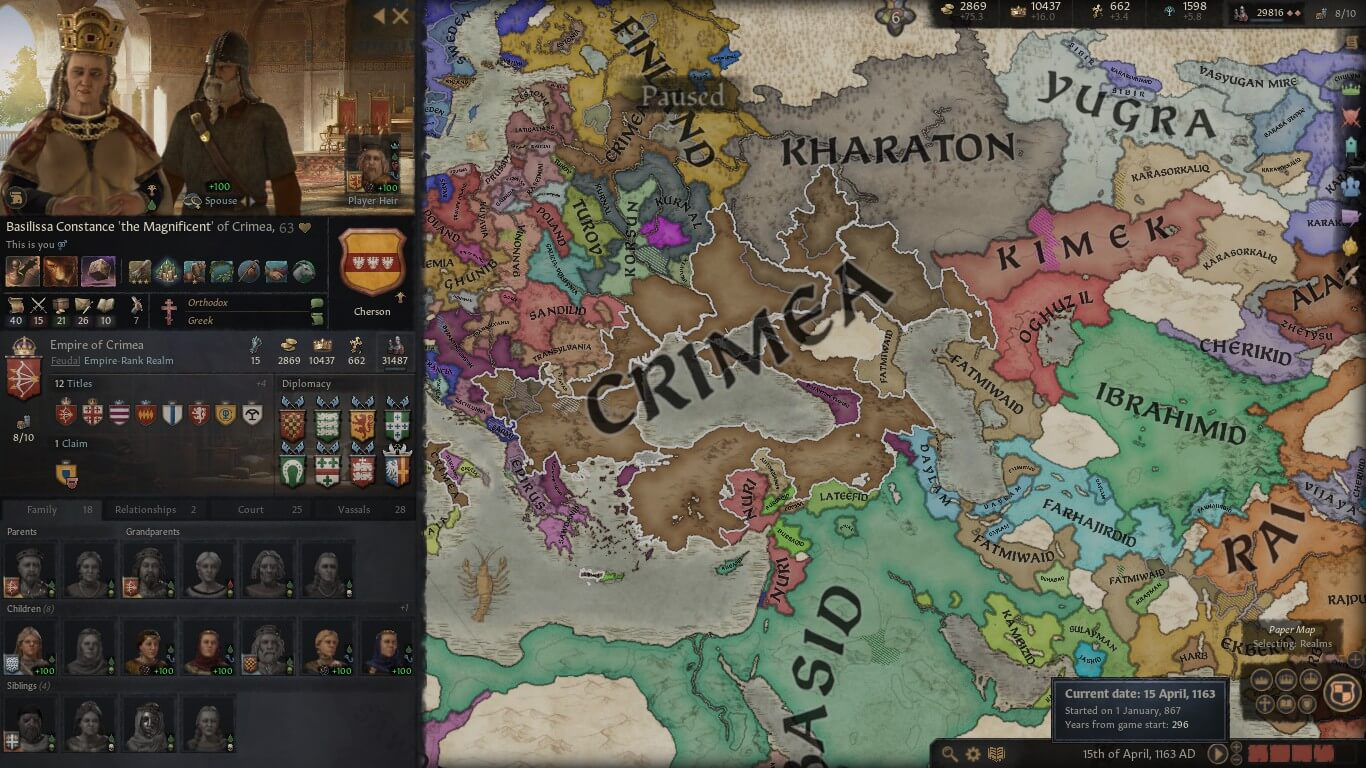 Forming an empire in CK3