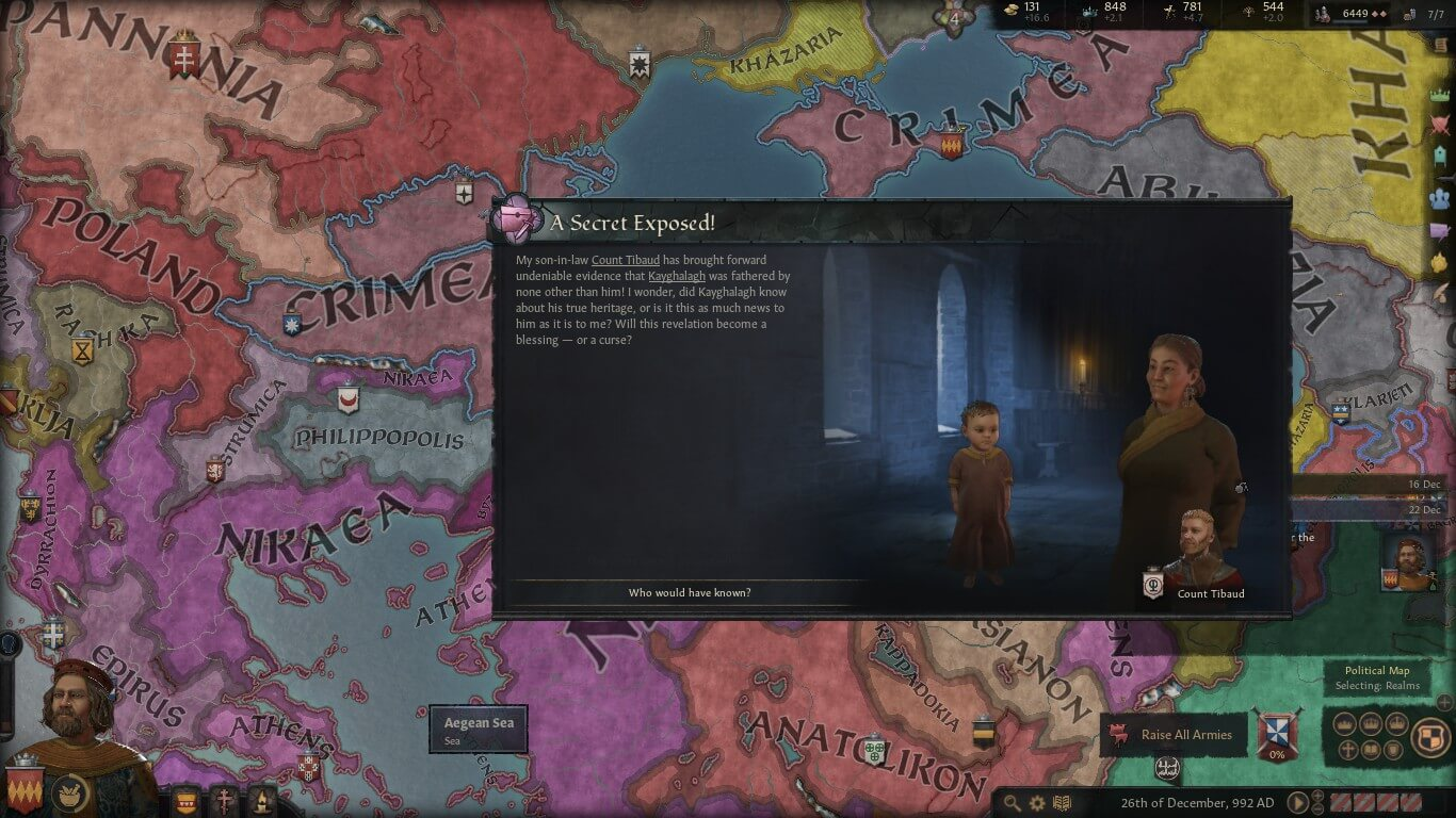 Intrigue and romance in CK3