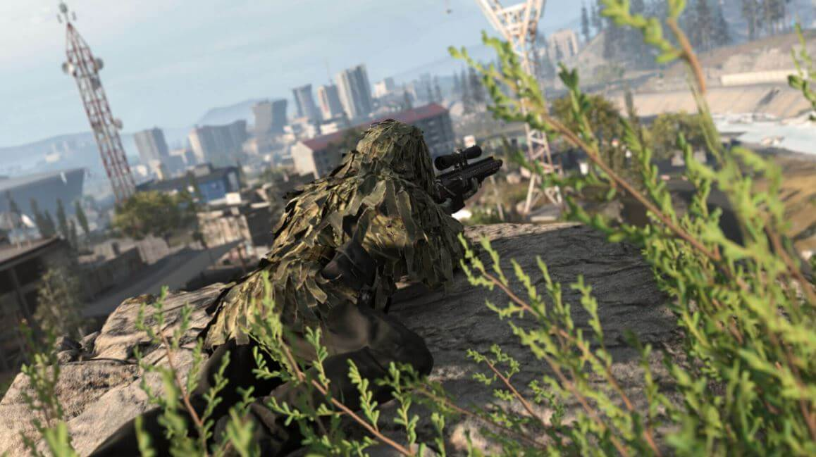 Successfully sniping an enemy from a distance in COD:Warzone is satisfying