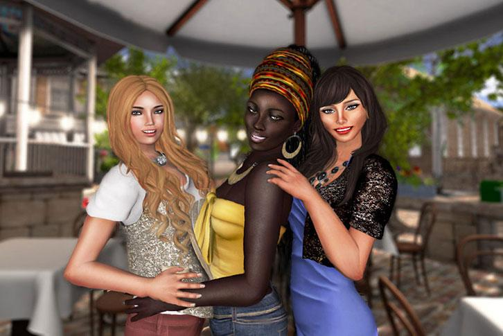 Hanging out with friends in Second Life