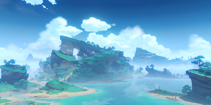 One of the islands in Inazuma